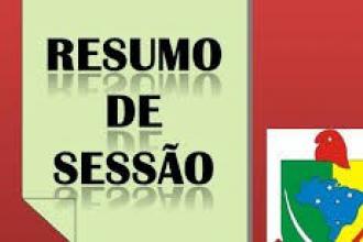 RESUMO DA OITAVA SESSÃO ORDINÁRIA DA CÂMARA MUNICIPAL DE CURVELÂNDIA